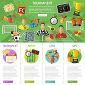Soccer Banner and infographics