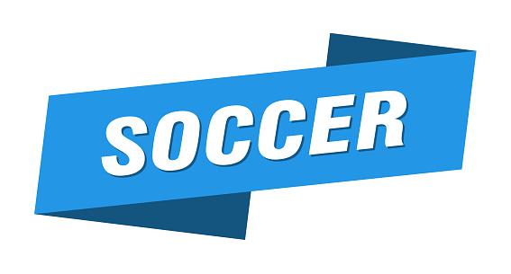 soccer banner template. soccer ribbon label sign