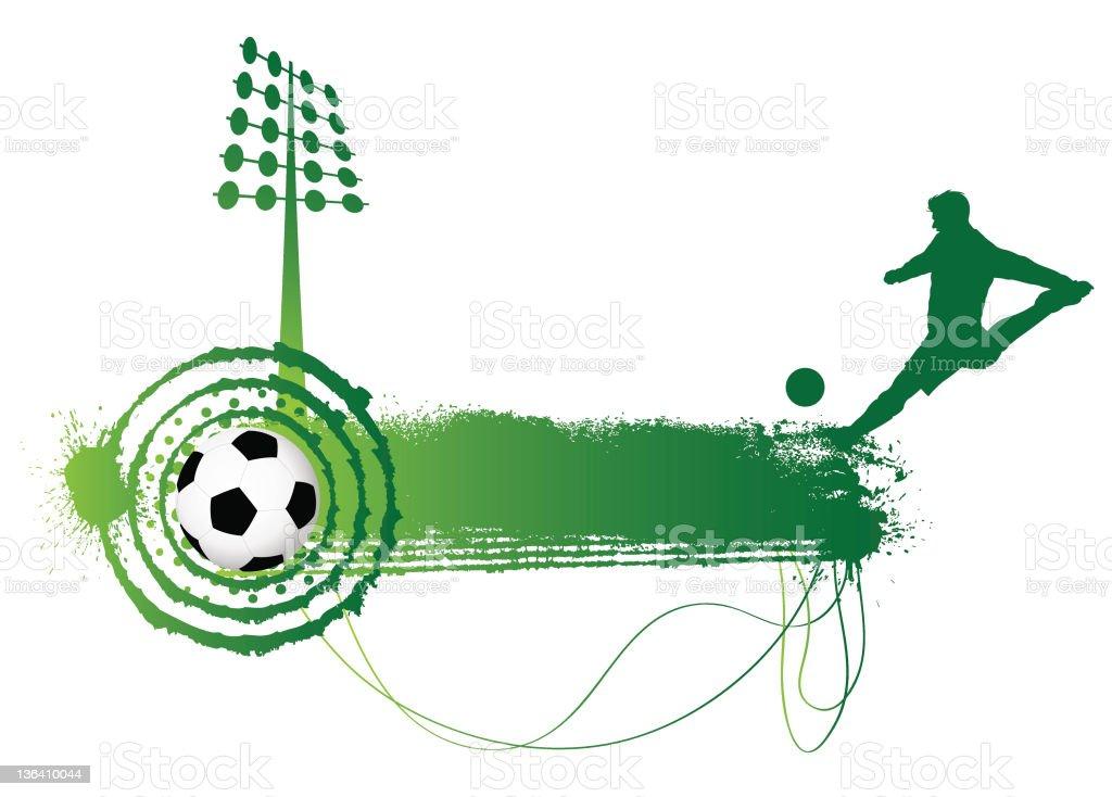 Grunge soccer banner design...