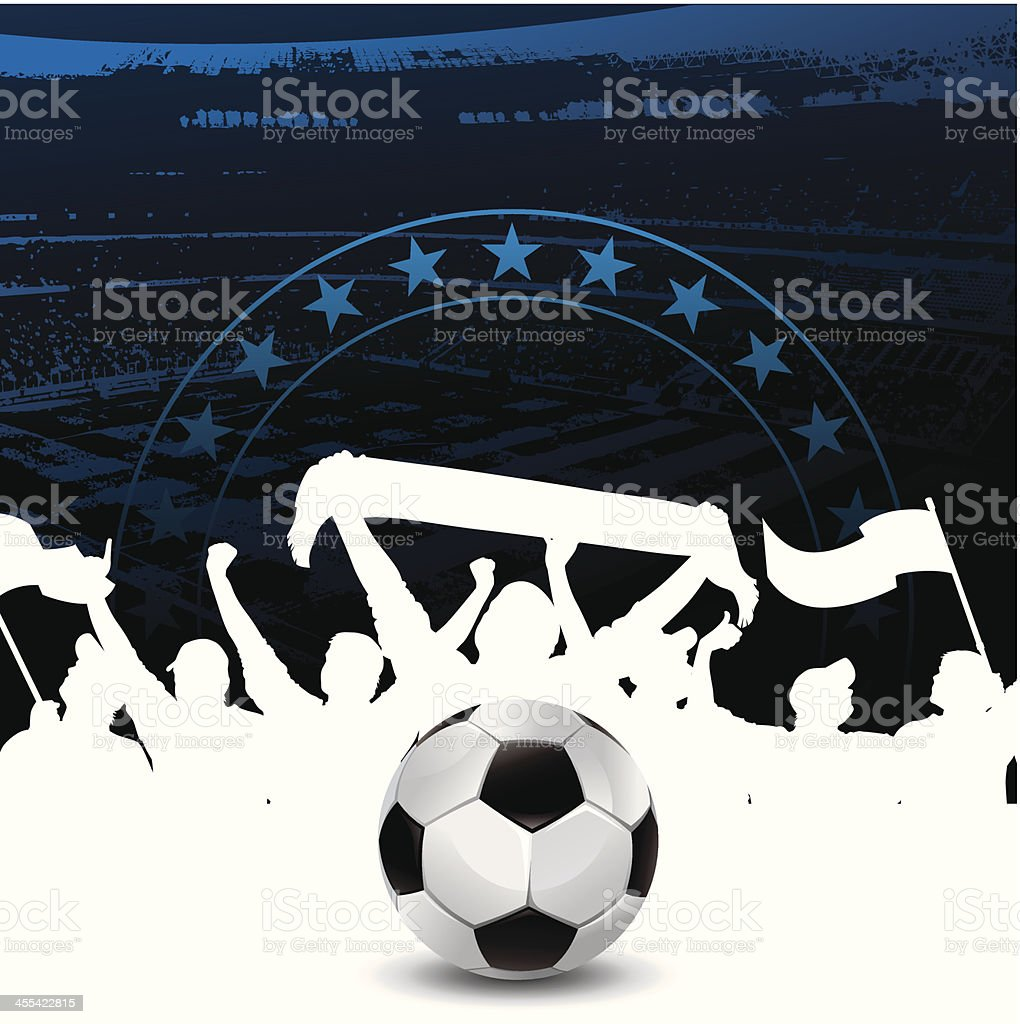soccer banner with fans royalty-free stock vector art
