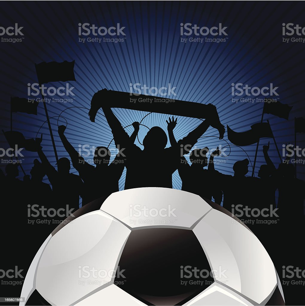 soccer blue background vector art illustration