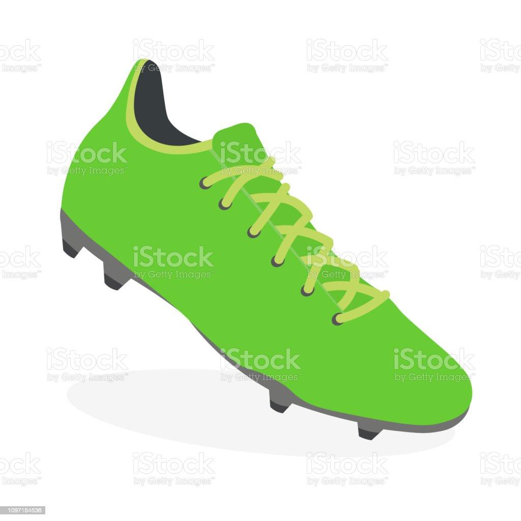 Agri Sport Werkschoenen.Soccer Boot Football Leather Shoe Sport Footwear Stock Vector Art