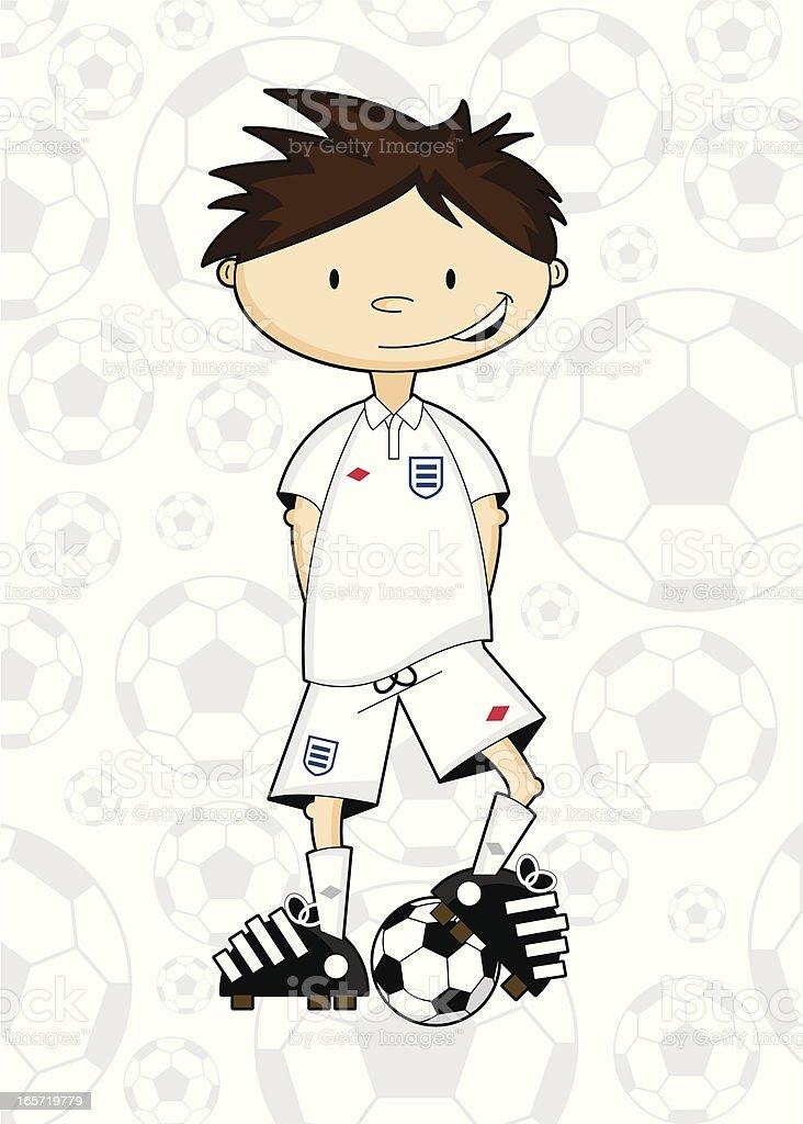 Soccer Boy Character royalty-free stock vector art