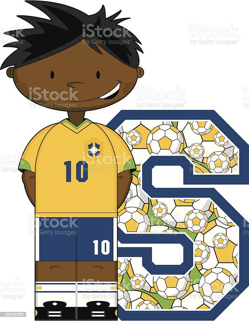 Soccer Boy Learning Letter S royalty-free soccer boy learning letter s stock vector art & more images of alphabet