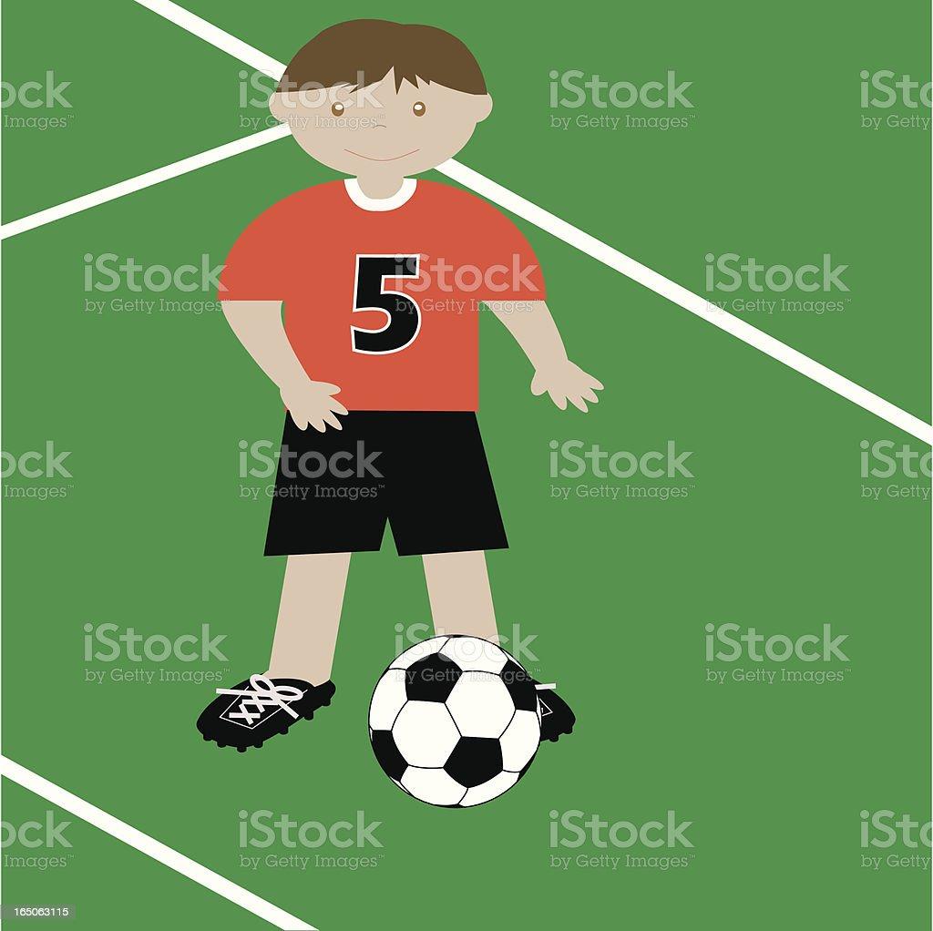 Soccer Boy royalty-free stock vector art