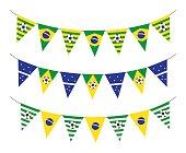 soccer bunting flag