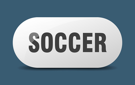 soccer button. sticker. banner. rounded glass sign