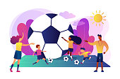 Soccer camp concept vector illustration.