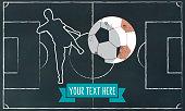 soccer chalk illustration on blackboard