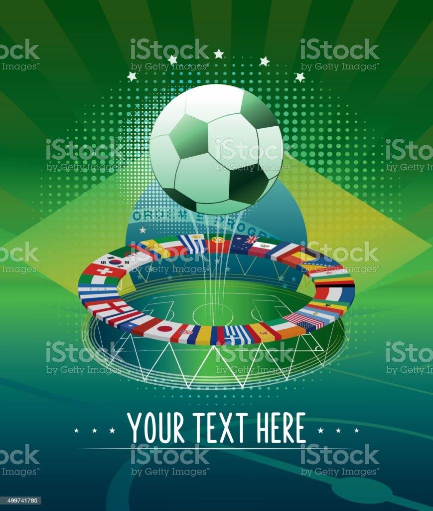 soccer champion background vector art illustration