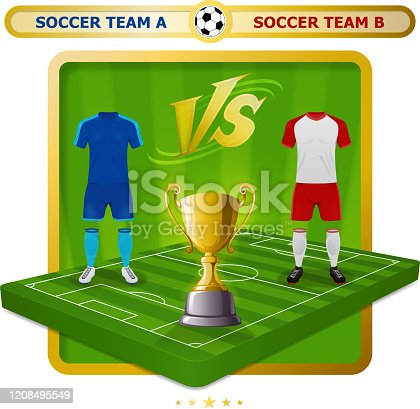 istock Soccer Champions Cup Competition Icon 1208495549