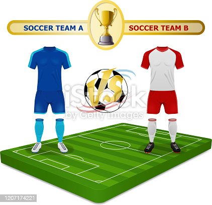 istock Soccer Champions Cup Competition 1207174221