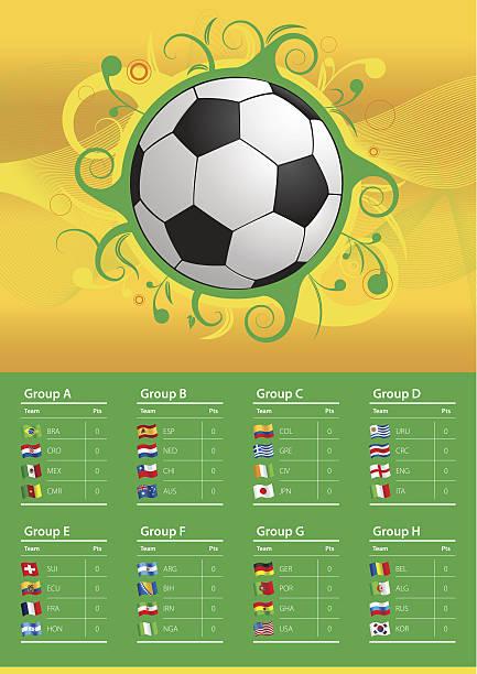 fußball-europameisterschaft 2014 flags - tischkalender stock-grafiken, -clipart, -cartoons und -symbole