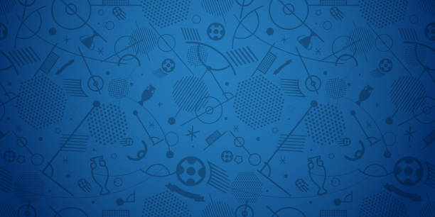 Soccer championship abstract background vector illustration vector art illustration