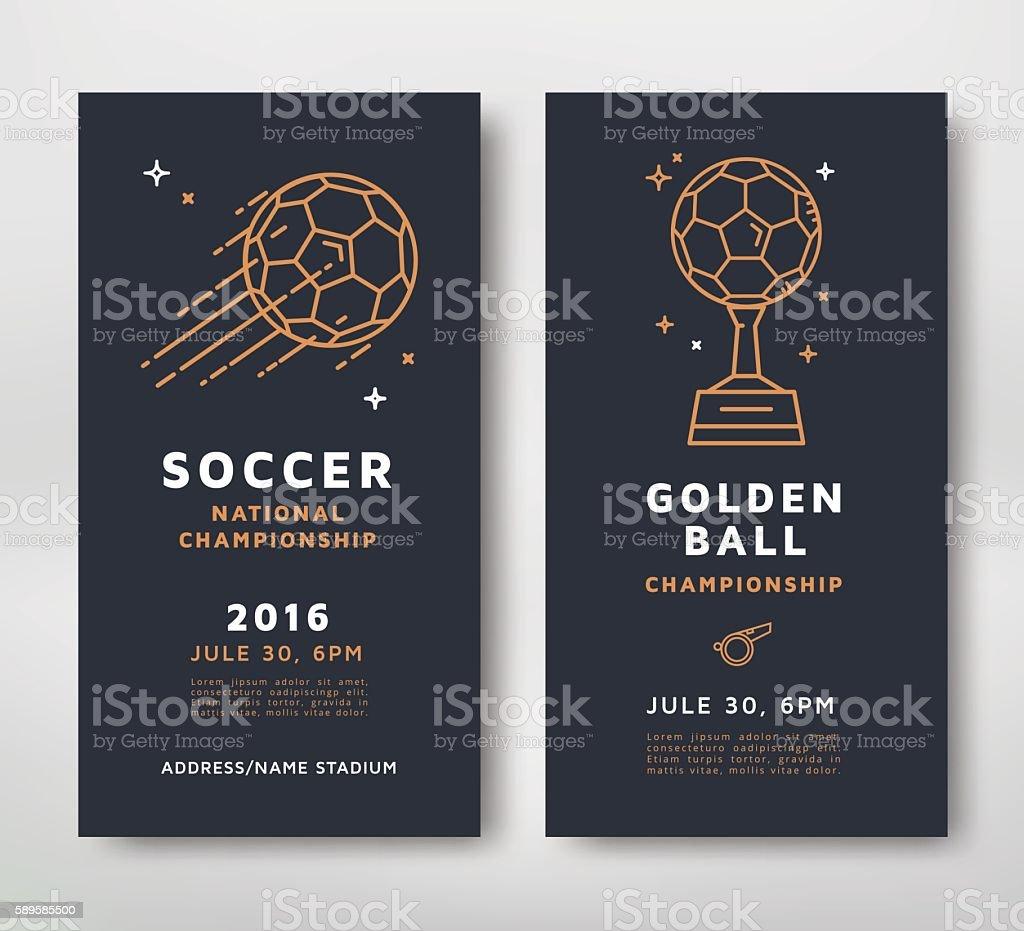 Soccer championship card ベクターアートイラスト
