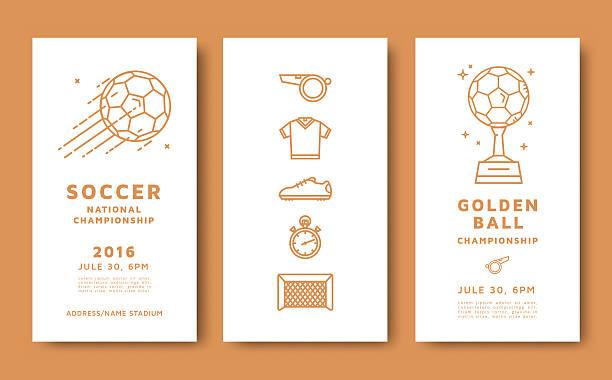 Campeonato de fútbol de tarjeta - ilustración de arte vectorial