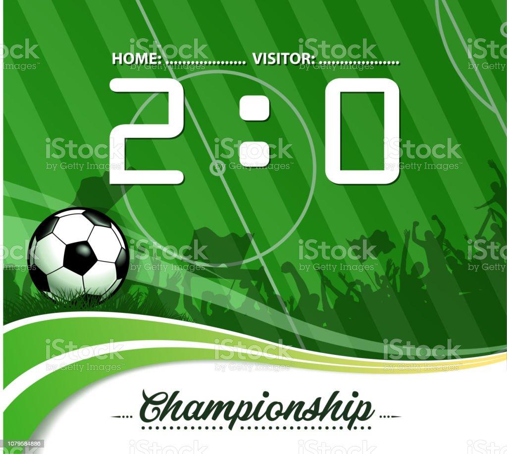 rótulo do campeonato de futebol - ilustração de arte em vetor