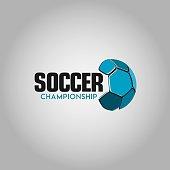 Soccer Championship Logo Vector Template Design Illustration