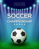 Soccer Championship Poster Design