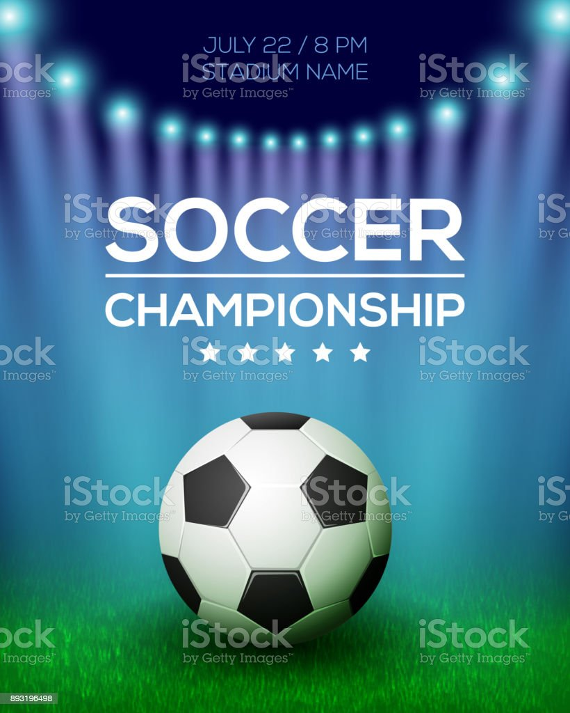 Soccer Championship Poster Design vector art illustration