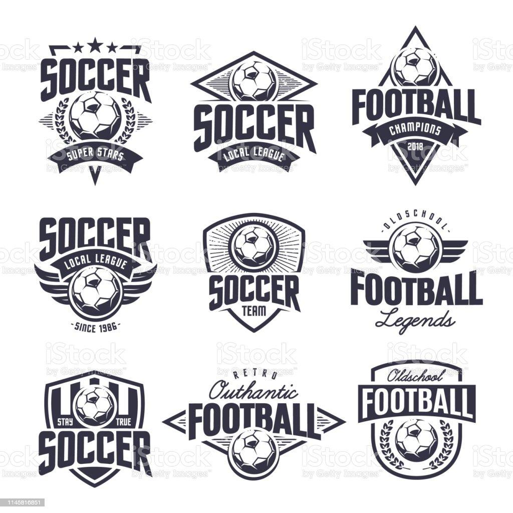 Soccer Classic vector emblemen set - Royalty-free Badge vectorkunst