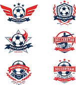 Soccer Club Badge Set, Football Team Emblem