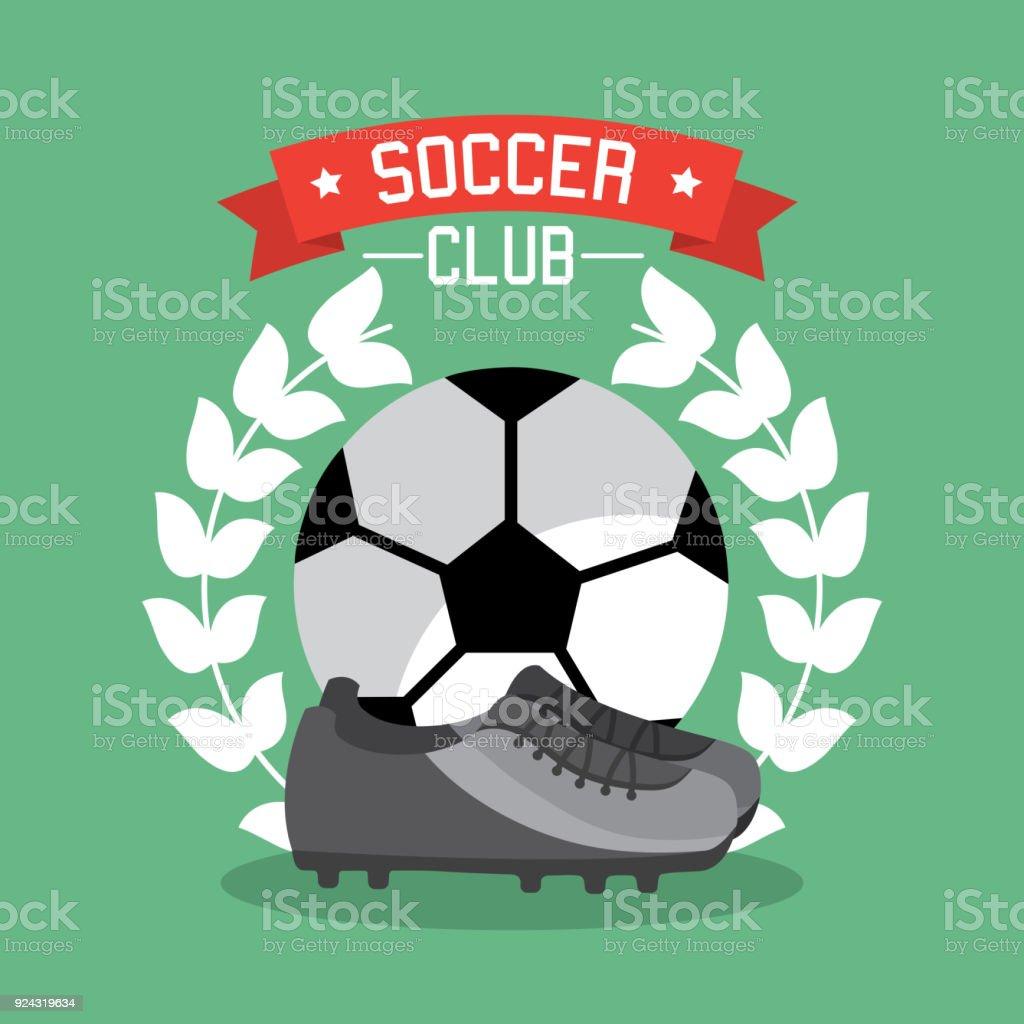 Ilustración de Campeonato De Futbol Club Bola Zapatillas Laurel y ...