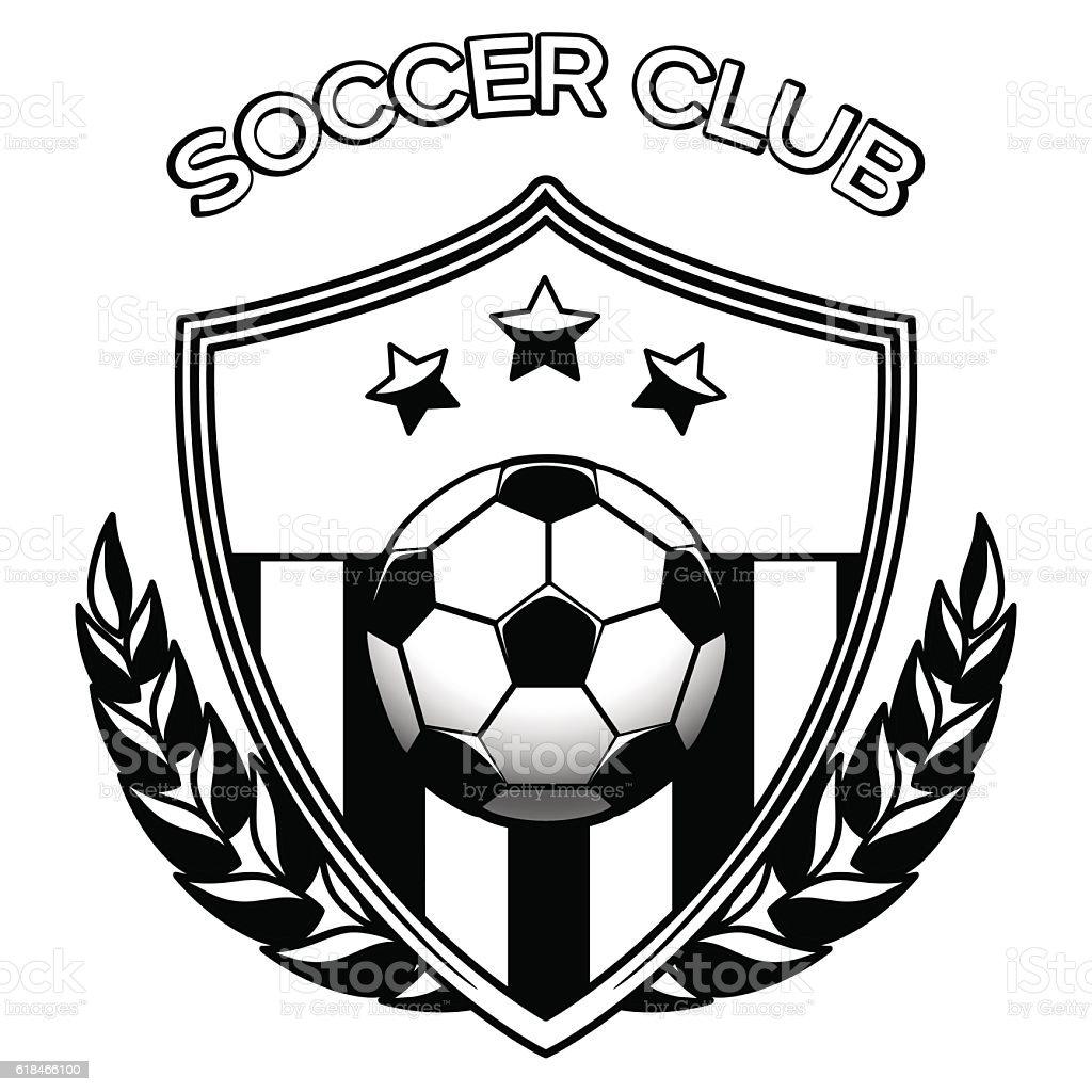 soccer club logo on white stock vector art amp more images