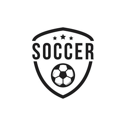 Soccer Club Logo Vector Template Design Illustration