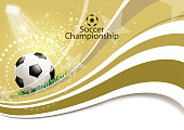 Drawn of vector soccer competition sign. This files of transparent and created by illustrator CS6.