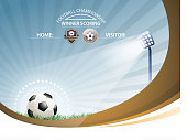drawn of vector soccer backgrounds.This file has been used illustrator cs3 EPS10 version feature of multiply.