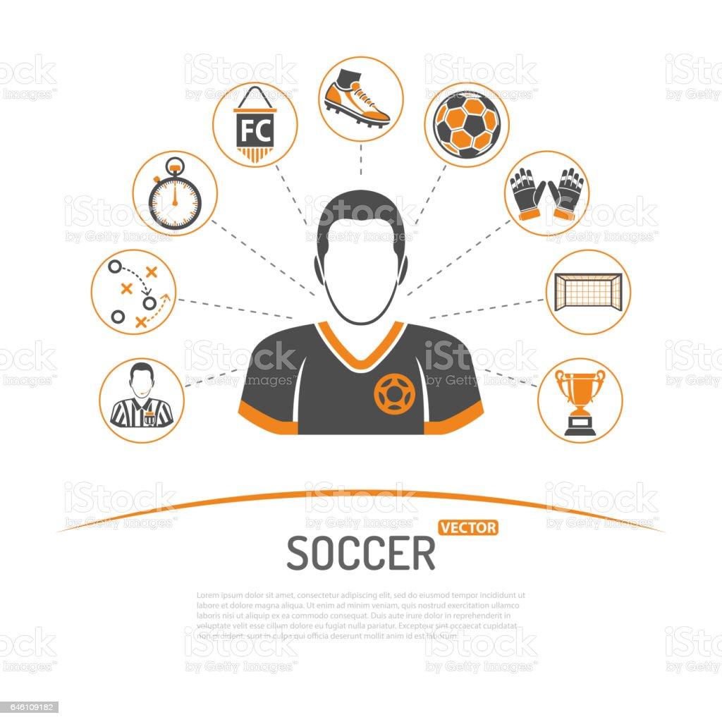 soccer concept illustration - ilustración de arte vectorial