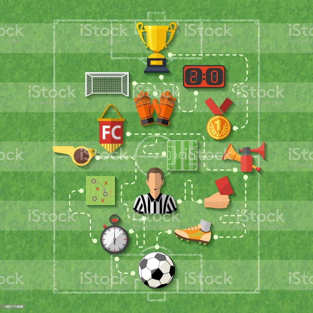 Concepto de fútbol - ilustración de arte vectorial