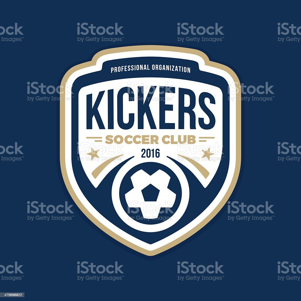 Soccer crest vector art illustration