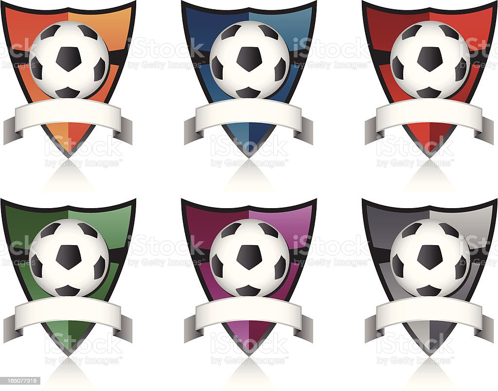 Soccer Crests royalty-free stock vector art