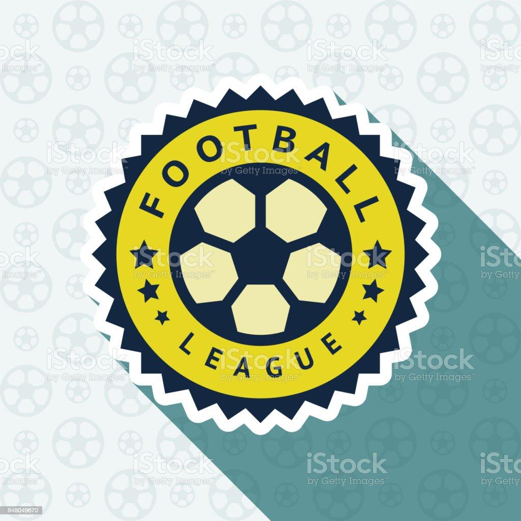 Soccer cup badge vector art illustration