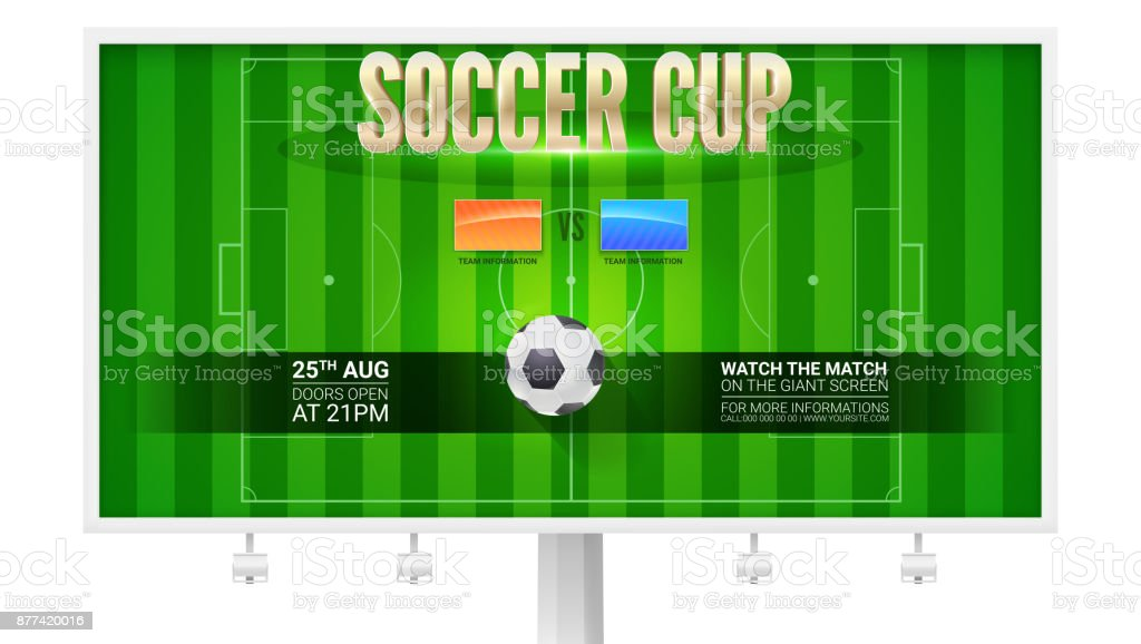 image relating to Printable Football Field Template referred to as Football Cup Eu Soccer Marketplace Upon Horizontal Billboard