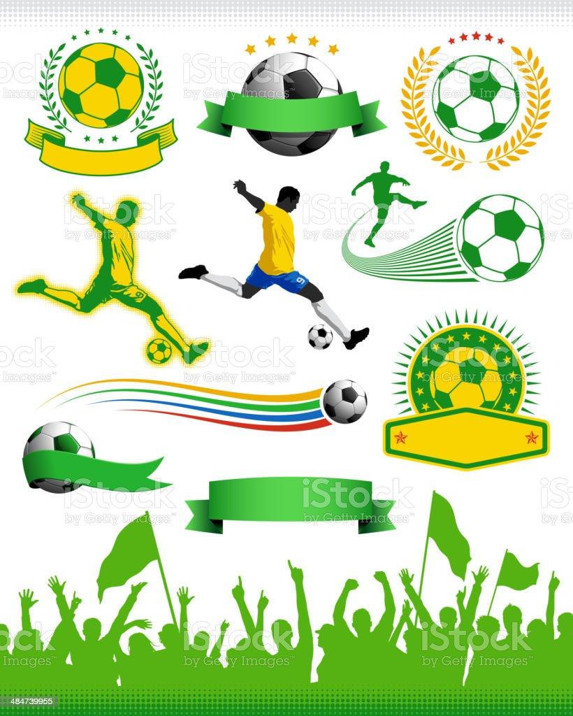 Elementos de Design de futebol - ilustração de arte em vetor