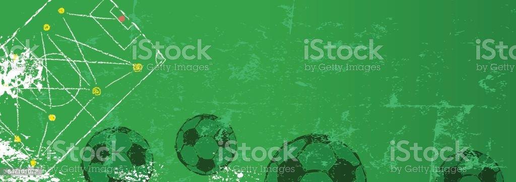 Fußball-Design-Vorlage – Vektorgrafik