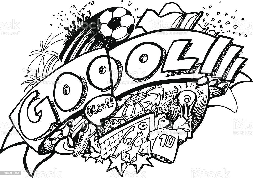 soccer doodle stock vector art amp more images of award