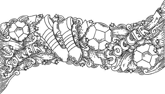 Soccer doodles background