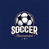 Soccer emblem blue