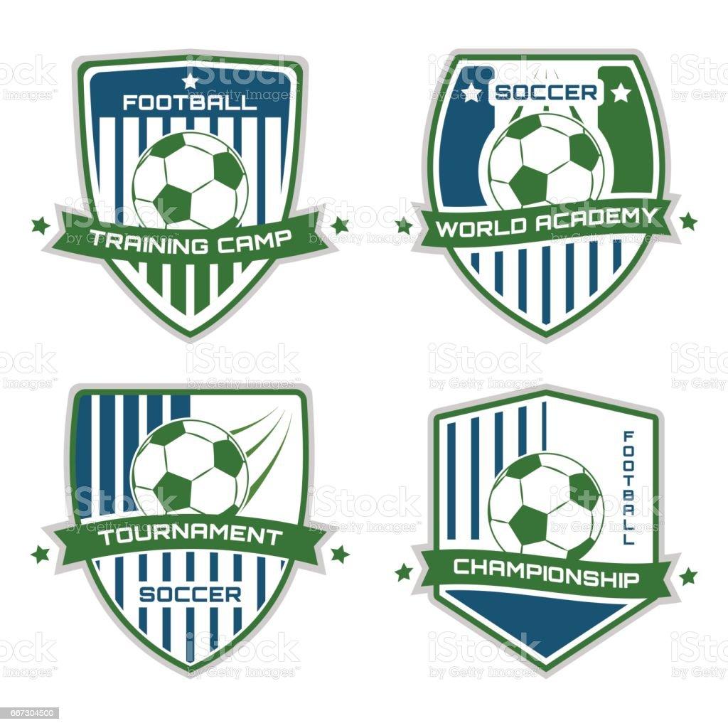 Soccer emblem. Football. Vector sport illustration. vector art illustration