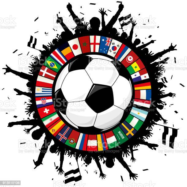 Soccer emblem with ball cheering fans and circle of flags 2018 vector id913515106?b=1&k=6&m=913515106&s=612x612&h=2 73o3ruxjw4 42ywgqsl3qkpwbzxgjq6kyf96kkvdo=
