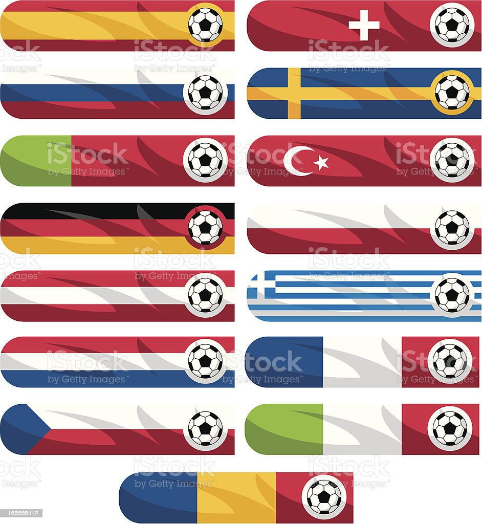 Soccer Euro 2008 Team Banners royalty-free stock vector art