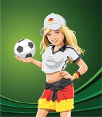 Soccer Fan Girl Germany