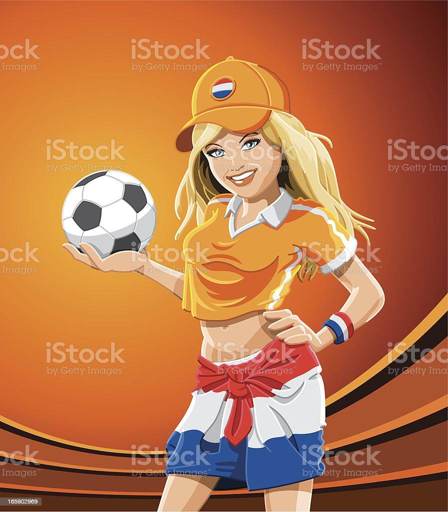 Soccer Fan Girl Netherlands royalty-free soccer fan girl netherlands stock vector art & more images of adult