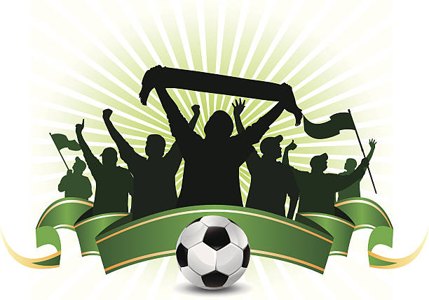 fußball-fans - fussball fan stock-grafiken, -clipart, -cartoons und -symbole