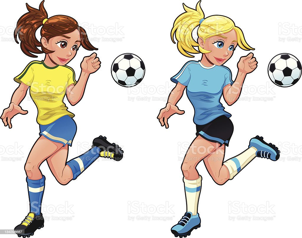 Soccer female players royalty-free soccer female players stock vector art & more images of adult
