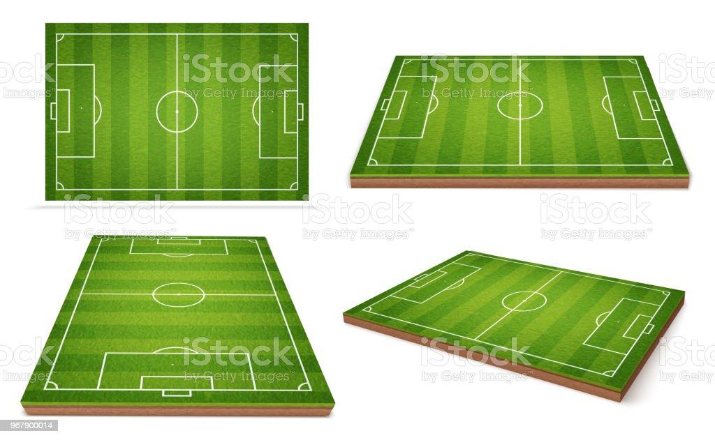 Fußball Feld Unterschiedliche Positionen Stock Vektor Art Und Mehr